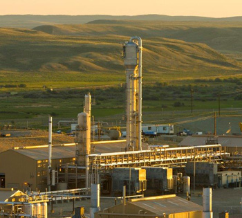 Opal Gas Processing Plant in Wyoming